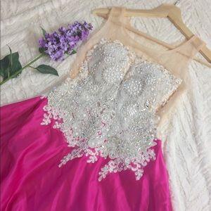 Hot Pink diamond dress